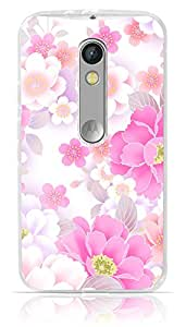 Floral Pink Pattern Case For Moto X Play