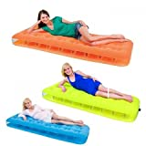 Comfort Quest Flocked Inflatable Single Air Bed Mattress Camping