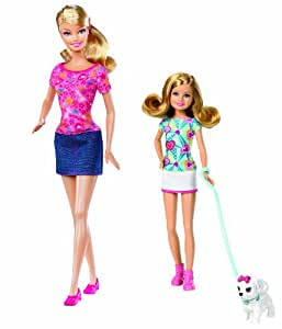 Barbie Sisters Pup Walk Barbie and Stacie Doll 2-Pack