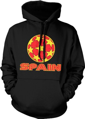 Spain Soccer Mens Sweatshirt, Espana, Spanish Country Pride Pullover Hoodie
