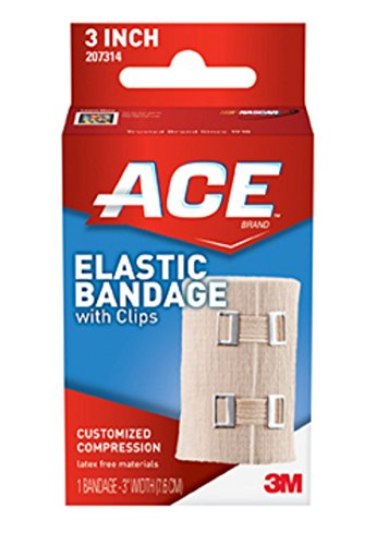 ACE Elastic Bandage with Hook Closure, 3 Inches (Pack of 2) (Ace Wraps compare prices)
