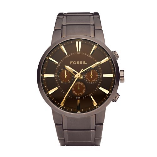 Images for Fossil Men's FS4357 Brown Stainless Steel Bracelet Brown Analog Dial Chronograph Watch