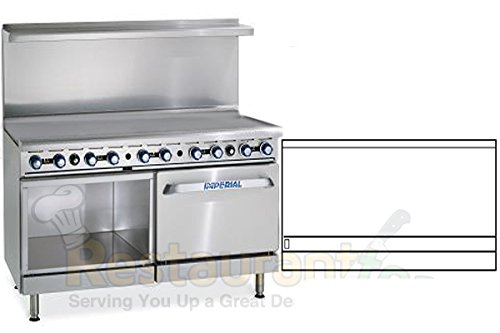 "Imperial Commercial Restaurant Range 60"" Griddle With Convection Oven/Cabinet Natural Gas Ir-G60-Xb"
