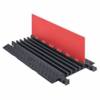 guard dog gd5x125 o b polyurethane heavy duty 5 channel cable protector with. Black Bedroom Furniture Sets. Home Design Ideas