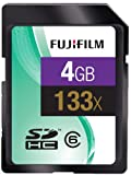 Fujifilm 4GB 133x Speed 20MB/sec Class4 SDHC SD Card
