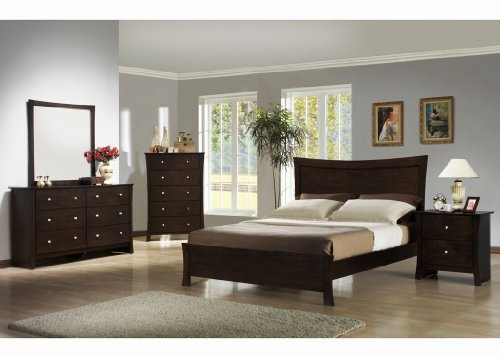 NEW 5pc Bedroom Set (Queen Bed, Dresser, Mirror, 2 Night Stands)