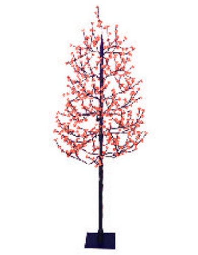 7.5' Pre-Lit LED Christmas Blossom Tree Outdoor Yard Art Decoration - Red Lights