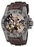 Invicta Mens 1095 Excursion Brown Camouflage Dial Brown Polyurethane Watch