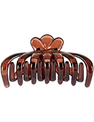 Jasmine Fashion Accessories Brown Plastic Hair Clip For Women (AM)