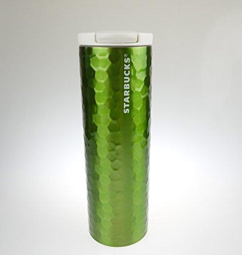 Starbucks Stainless Steel Hammered Travel Tumbler Thermos Mug, Green 16 Oz