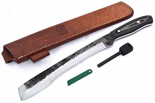 "CFK Cutlery Company IPAK USA 16"" TRAIL BOSS IV HYBRID RUSSIAN MACHETE CHOPPER Micarta Custom Handmade Hammered D2 Tool Steel"