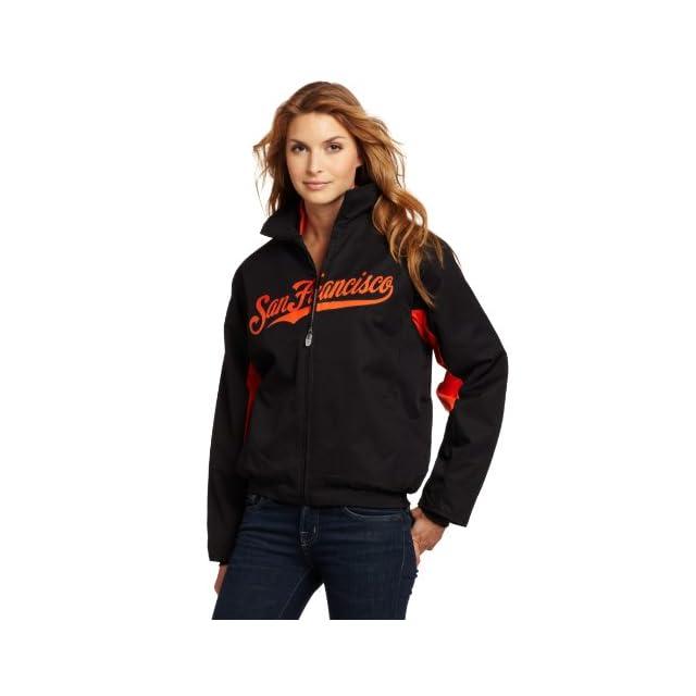 MLB San Francisco Giants Triple Peak Womens Jacket, Black/Orange