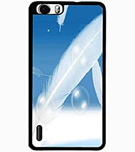 ColourCraft Beautiful Feathers Design Back Case Cover for HUAWEI HONOR 6 PLUS