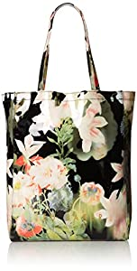 Ted Baker Opulent Bloom Print Icon Shoulder Bag,Black,One Size