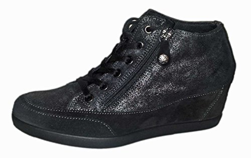 ENVAL SOFT donna sneakers con zeppa 49840/00 39 Nero