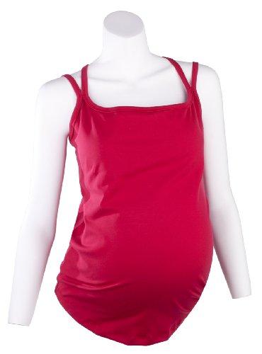 Mountain Mama Women's Marni Movement Maternity Tank Top, Red Bud, Small