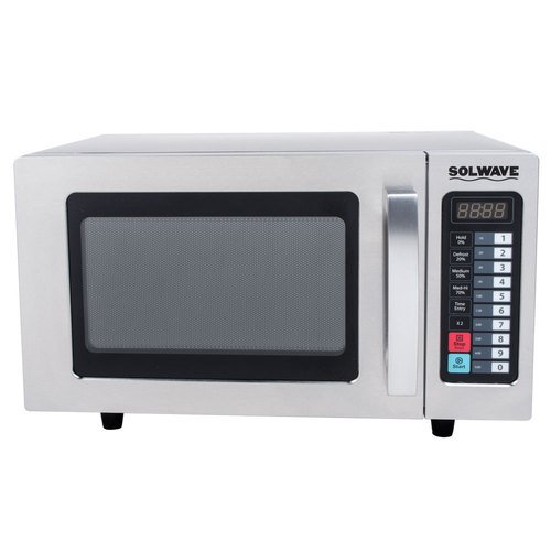 Solwave Mw1000T Stainless Steel Commercial Microwave With Push Button Controls - 120V, 1000W