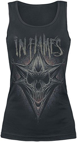 In Flames Hooked Jesterhead Top donna nero S