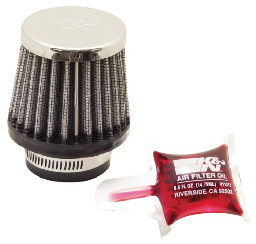 K&N RC-0790 High Performance  Universal Clamp-on Chrome Air Filter