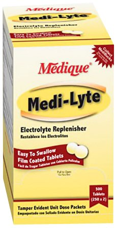 Medi-Lyte Heat Stress Relief Tablets Sugar Free 500 Per Box By Medique - Ms71275