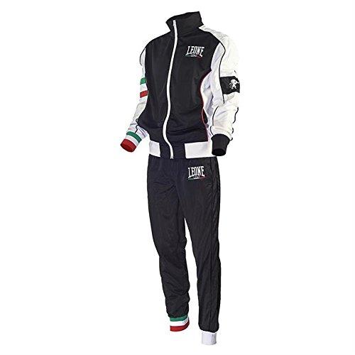 Tuta Completa (Giacca e Pantaloni) Leone AB796 (Nero, S)
