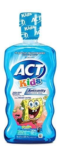 ACT Kids Anti-Cavity Mouthwash, Sponge Bob, 16.9 oz.