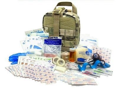 Military Rip-Away EMT First Aid Kit IFAK Level 1 for Army Medic - Multicam  #FA16 from Surplus Provisions LLC