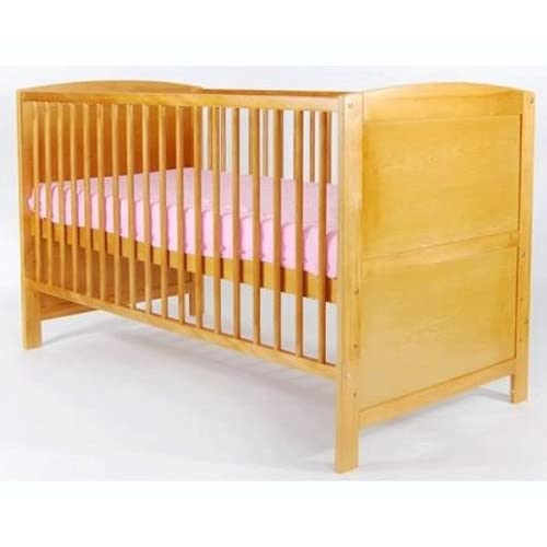 COT BED IN PINE WITH FREE MATTRESS!!! CONVERTS INTO JUNIOR BED. MASSIVE SALE!!!