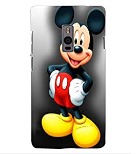ColourCraft Lovely Cartoon Character Design Back Case Cover for OnePlus Two
