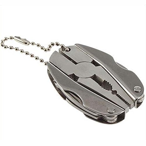 Multi Function Folding Pocket Tools Plier Knife Screwdriver Keychain + Case Set