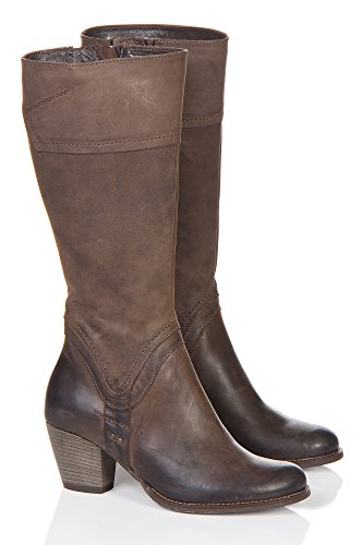 Women'S Duval Tall Leather Harness Boots, Brown, Size Eu37