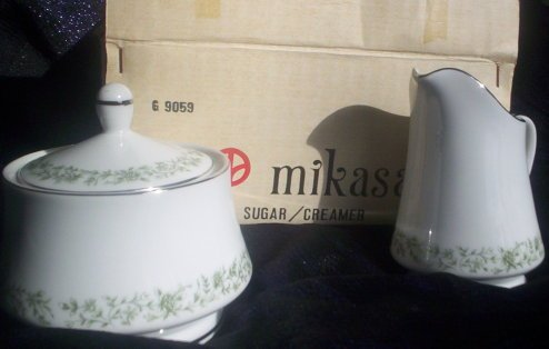 Mikasa Montclaire Creamer and Sugar Fine China Mikasa Fine China Japan