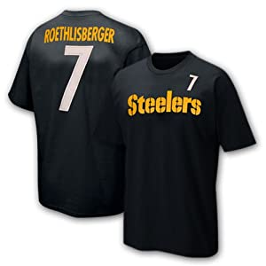 NFL Pittsburgh Steelers Ben Roethlisberger 8-20 Boys Primary Gear S/S Tee