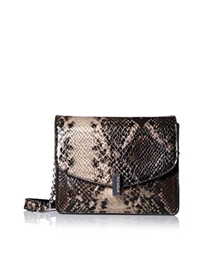 Kenneth Cole REACTION Women's Winged Victory Shoulder Bag, Python/Black