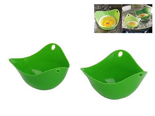 OPPOHERE Silicone Egg Poacher Egg Boiler Cookware,Random color 2PCS