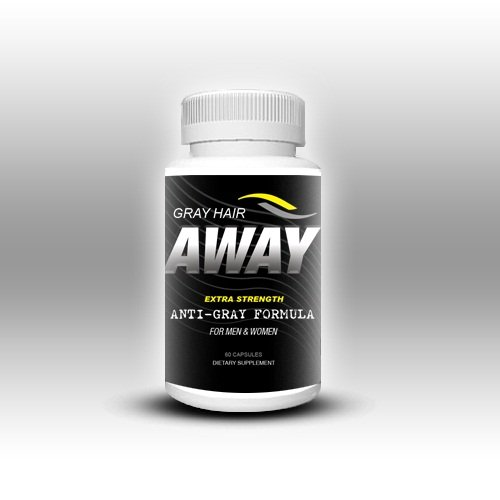 Gray Hair Away, Reverse Gray Hair, Look Younger, Men & Women's Anti-Gray Hair Vitamins- Gray Hair Away, 60c, 30 Day Supply!!!