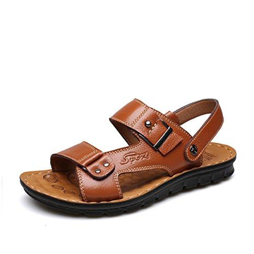 Traspirante scarpe/Sandali in pelle maschile/Tutti i giorni di scarpe casual-C Lunghezza piede=23.8CM(9.4Inch)