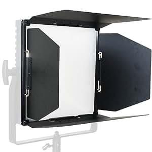 amazoncom lumos 054816 barn doors for lumos 300 black With camera barn doors