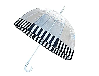Totes Clear Bubble Umbrella (Black And White)
