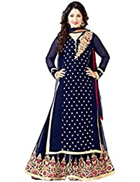 Right Festival Spacial Navy Blue Semi Stitched Plazo Suit Salwar Suits For Women Salwar Suit Salwar Suits For...