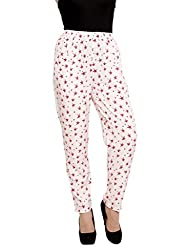 RED STAR PRINT TROUSERS