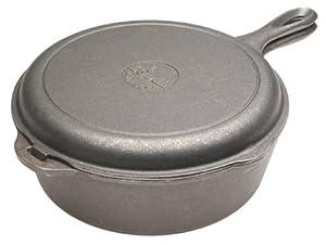 Lodge 3-Quart Cast Iron Indoor/Outdoor Combo Cooker