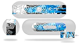 Checker Skull Splatter Blue Decal Style Skin - fits Beats Pill Plus (BEATS PILL NOT INCLUDED)