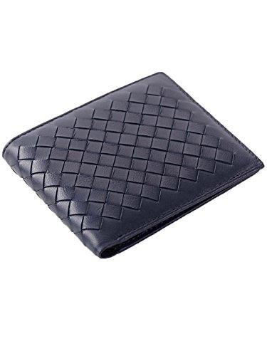 zando-unisex-fashion-solid-diamond-leather-multi-card-thin-bifold-wallet-handbag-blue1