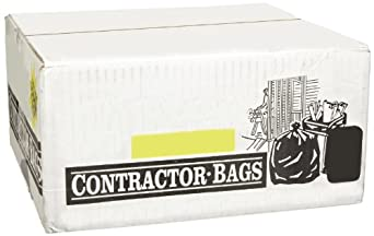 "Webster WEB1CTR50 LDPE Handi Bag Contractor Grade Waste Can Liner, Super Value Pack, 2.5 Mil, Flat Seal, 48"" x 33"", Black (Pack of 50)"