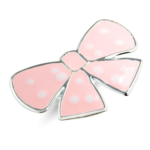 Poca Dot Bow Children's Ring - Childrens Adjustable Ring - Matching necklace and earrings available - will arrive in gift bag