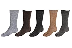 Queens Extra Stretchable Woollen Thumb Assortment Colours Socks (Pack Of 5)