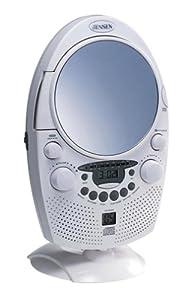 Jensen JCR-550 Shower CD Player/Clock Radio with Fog-Free Mirror