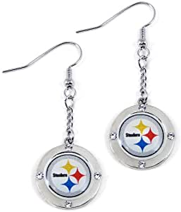 nfl pittsburgh steelers crystal dangle