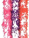 Deluxe 2 Tone Costume Feather Boa w Tinsel - Great for Saloon Girls, Flappers, Dancers & More COLORS